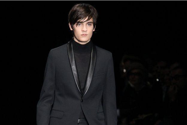 Alain-Fabien Delon, lundi, en Italie, a défilé pour Gucci.