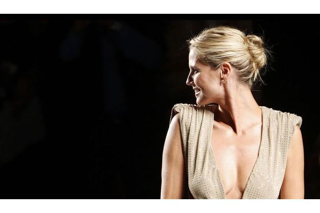 Heidi Klum à la fashion week de New York, vendredi dernier.