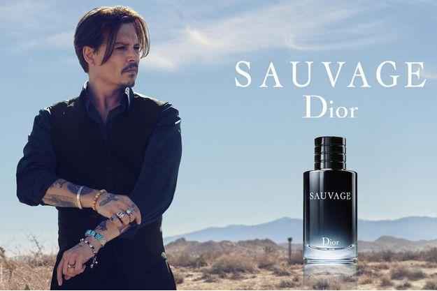 """Johnny Depp incarne """"Sauvage"""", la nouvelle eau de parfum de la maison Dior."""