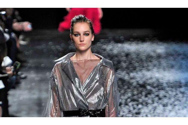 Joséphine Le Tutour au défilé Nina Ricci la semaine dernière à Paris.
