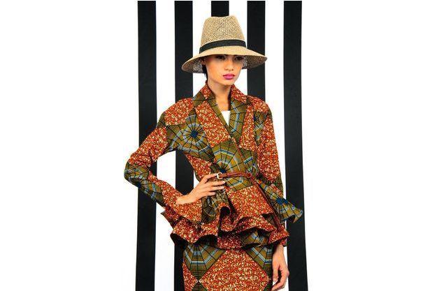 Un ensemble créé pour la collection printemps 2014 par REUBEN REUEL, le styliste préféré de la star Beyoncé.