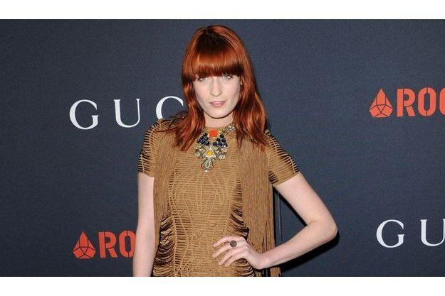 Florence Welch à la fête Gucci avant les Grammy Awards 2011, dans une création de la marque italienne.
