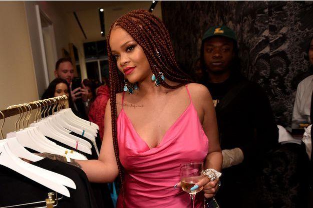 Rihanna au cocktail d'ouverture de sa boutique à New York, le 18 juin 2019.