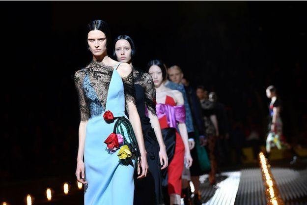Défilé Prada lors de la Fashion week milanaise, en février 2019.