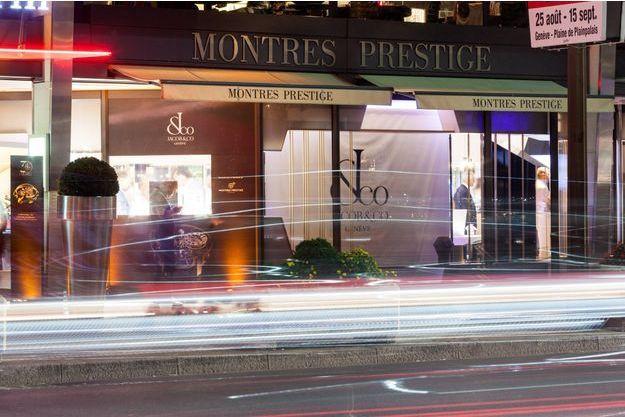 La luxueuse boutique Montres Prestige à Genève