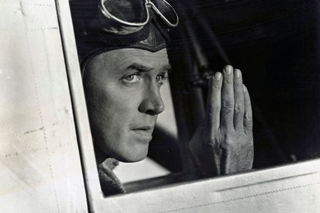 "James Stewart incarne Charles Lindbergh dans ""The Spirit of Saint-Louis"" de Billy Wilder"