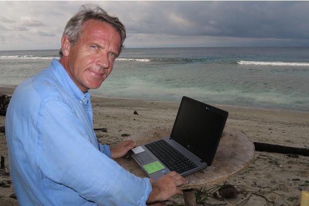 """Gauthier Toulemonde dans son """"bureau""""."""