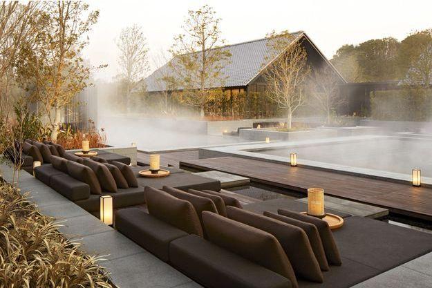 Japon : nouvelle retraite de luxe pour explorer la région en toute sérénité: Amanemu, membre de la chaîne Aman. Une source chaude alimente les bassins du spa.
