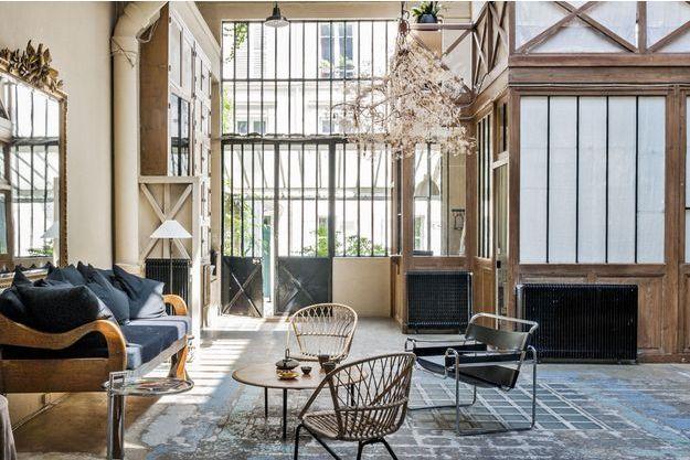 A Paris, esprit atelier pour ce loft du VIIe arrondissement. A partir de 366 euros la nuit pour cinq personnes sur onefinestay.com.