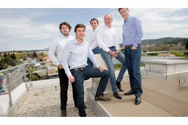 Les fondateurs : de g. à dr. : Sébastien Tricaud, David Bastian, Christophe Serna, Alexandre Fontaine et Denis Philippon