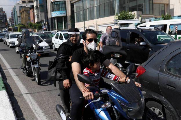Dans les rues de Téhéran, le 20 mai 2020.