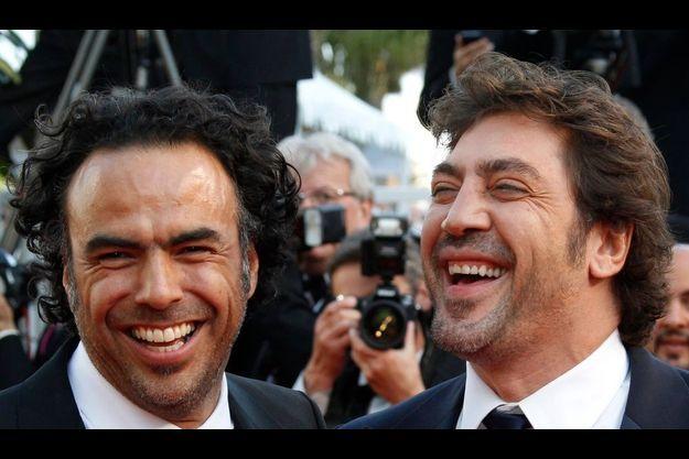 """Le réalisateur de """"Biutiful"""", Alejandro Gonzalez Inarritu, et son comédien principal, Javier Bardem."""