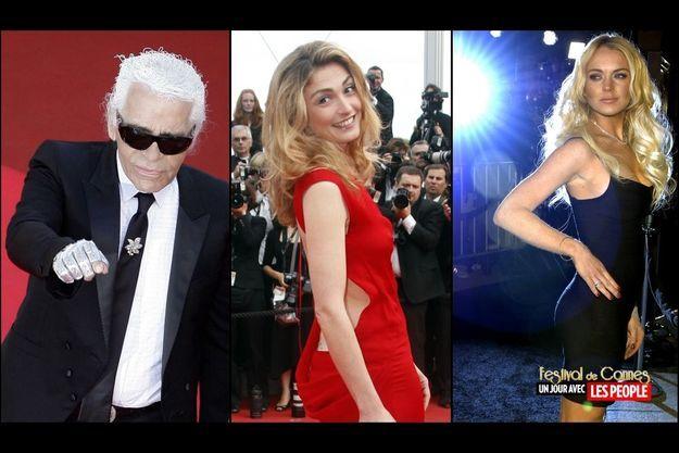 Karl Lagerferld, Julie Gayet, Lindsay Lohan