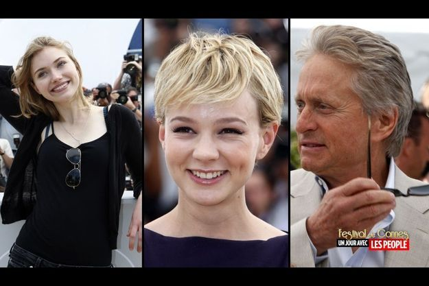 Imogen Poots, Carey Mulligan et Michael Douglas.