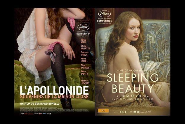 """Les affiches de """"L'Apollonide"""" et de """"Sleeping Beauty"""""""