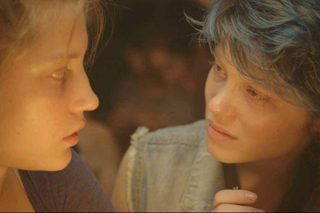 """Adèle Exarchopoulous et Léa Seydoux dans """"La Vie d'Adèle"""""""