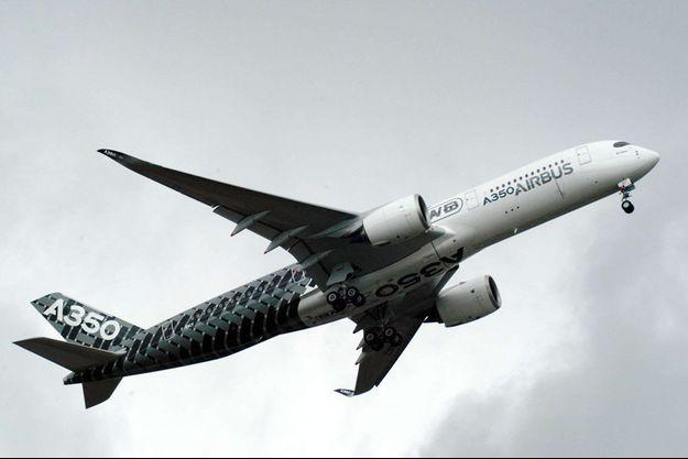 Un Airbus A350 XWB au salon de Farborough, en Angleterre, en juillet dernier.
