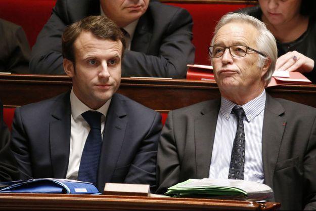 Emmanuel Macron, ministre de l'Economie, et François Rebsamen, ministre du Travail.