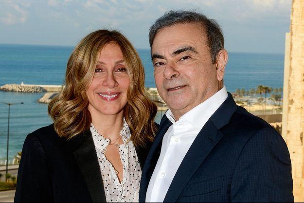 Avec sa femme Carole, à Beyrouth le 11 janvier.