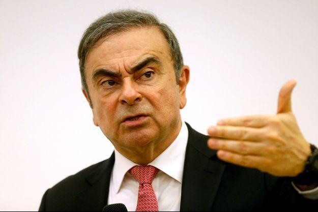 Carlos Ghosn lors de sa conférence de presse du 8 janvier à Beyrouth.