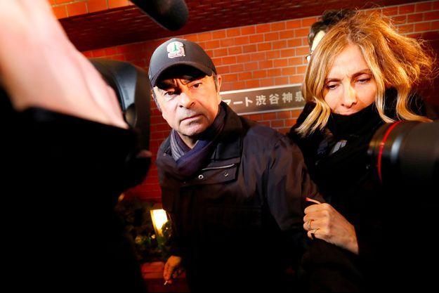 Carlos et Carole Ghosn, le 8 mars à Tokyo.