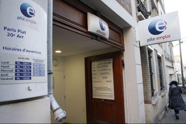 Un bureau de Pôle Emploi à Paris, le 26 décembre 2016.