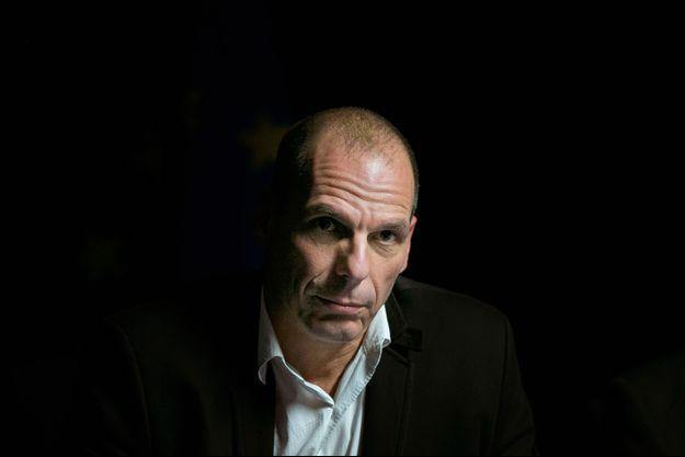 Yanis Varoufakis, le 20 février, à Bruxelles lors de la réunion de l'Eurogroupe.