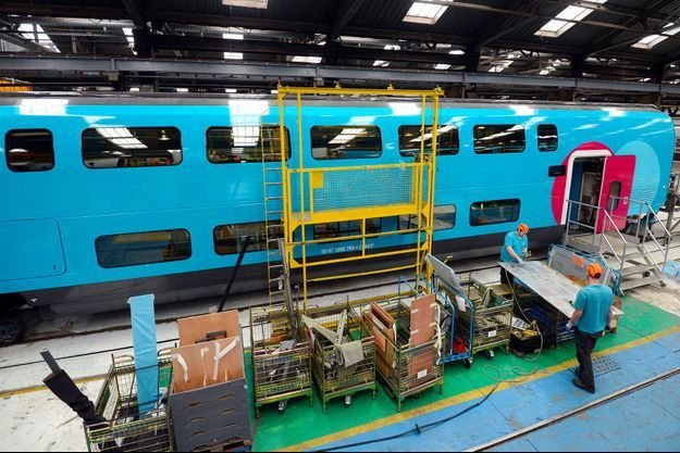 Dans les ateliers SNCF de Bischheim, en février 2013. C'est là qu'est testé l'exosquelette.