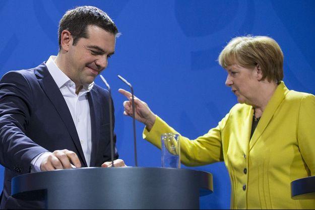 Alexis Tsipras et Angela Merkel le 23 mars à Berlin.