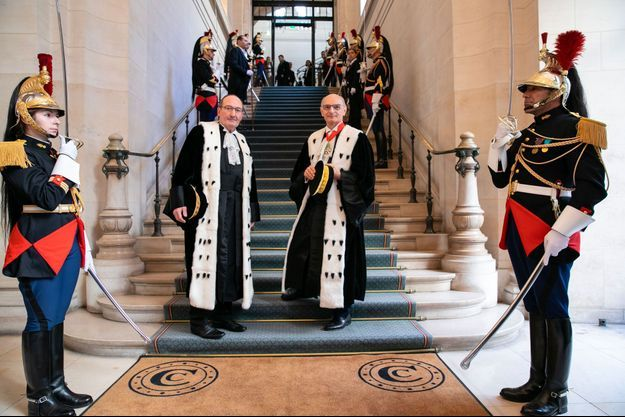 Gilles Johanet, procureur général de la Cour des comptes, et Didier Migaud, Premier président de la Cour, en janvier dernier.