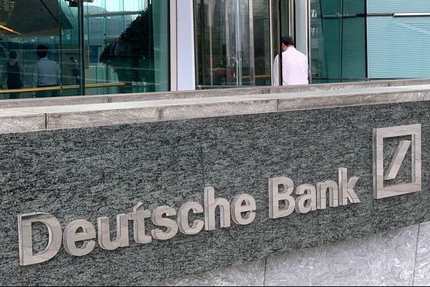 Le logo de la Deutsche Bank.
