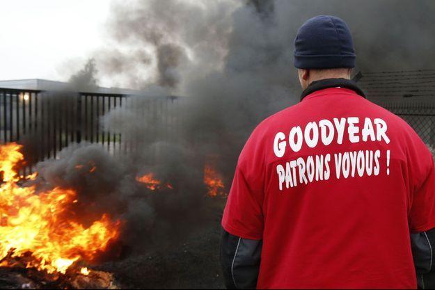 Devant l'usine Goodyear d'Amiens-Nord, le 18 novembre dernier.