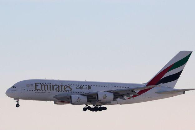 Un A380 aux couleurs d'Emirates.