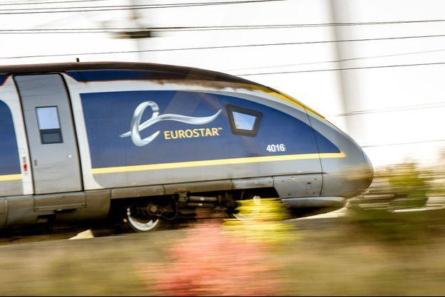 Un train Eurostar près de Lesquin, dans le Nord.