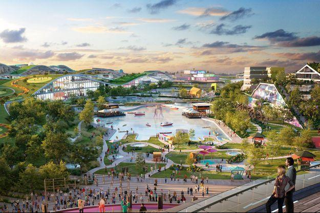 Une modelisation du futur parc EuropaCity