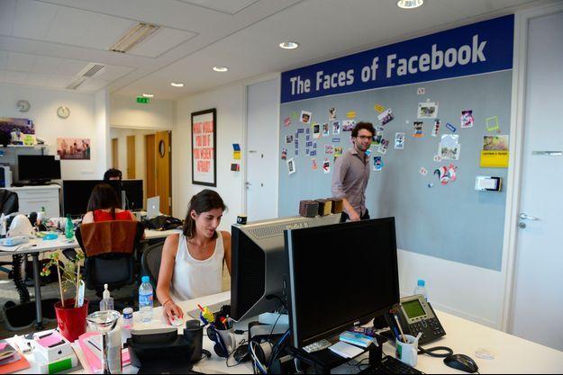 Dans les locaux de Facebook France, en 2014, à Paris.