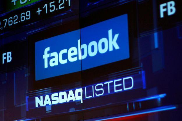 Facebook s'est effondré au Nasdaq.