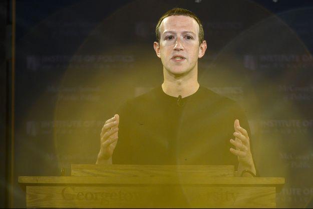 Mark Zuckerberg à Washington, en octobre dernier.