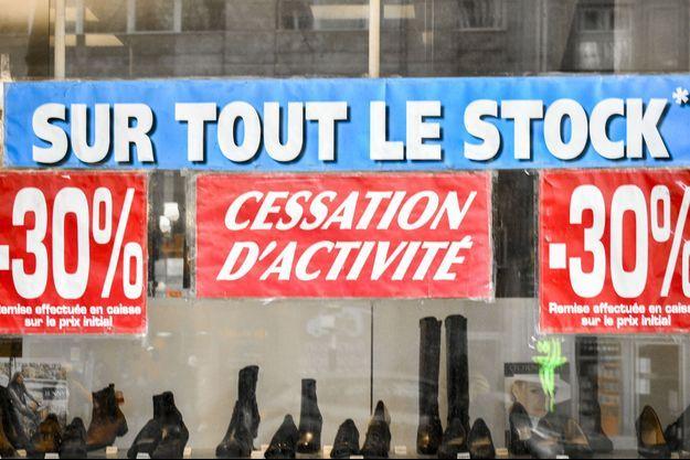 Devanture d'une boutique à Paris en janvier dernier.