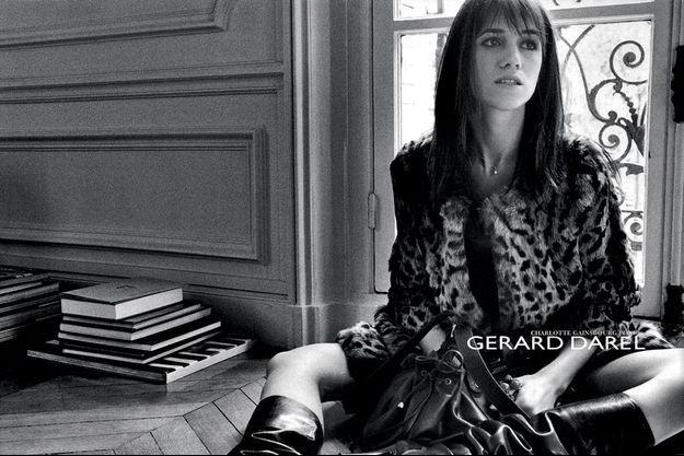 Charlotte Gainsbourg icône de Gérard Darel