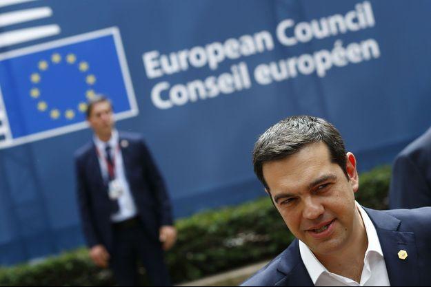 Alexis Tsipras, jeudi à Bruxelles.