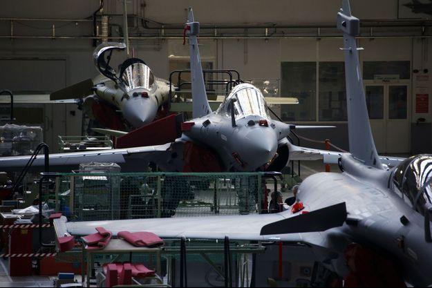 Rafales dans l'usine Dassault. 2014