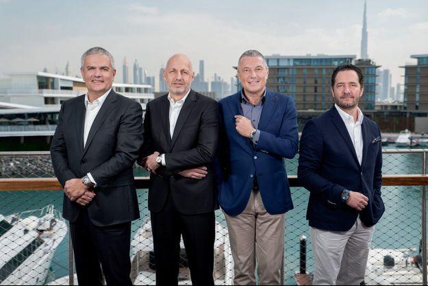 De g. à dr. : Ricardo Guadalupe (Hublot), Stéphane Bianchi (Tag Heuer), Jean-Christophe Babin (Bulgari) et Julien Tornare (Zenith).
