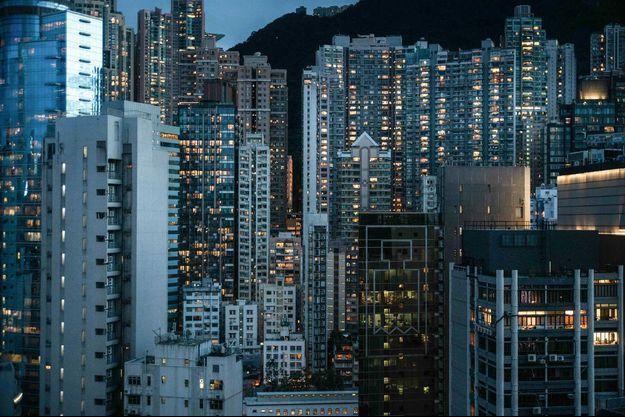 "La mythique ""Skyline"" de Hong Kong."