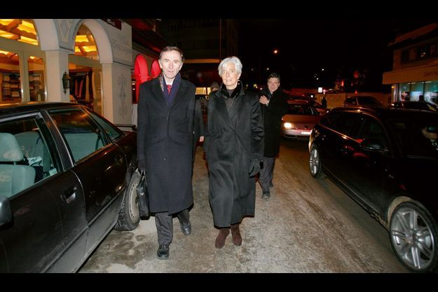 La ministre de l'Economie au côté de Stephen Green, ex-P-DG d'HSBC, ministre du Commerce britannique.