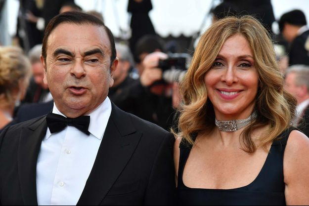 Carlos et Carole Ghosn au Festival de Cannes 2018.