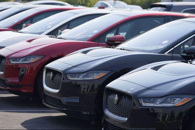 Des Jaguar i-Pace, premier véhicule électrique de la marque britannique, aux Etats-Unis, en septembre dernier.