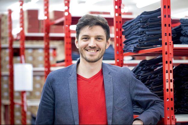 Thomas Huriez, 36 ans, a relocalisé le jean en France.