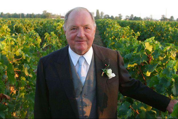 Albert Frère en septembre 2003 dans son vignoble du Château Cheval Blanc à Saint-Emilion, lors du mariage de sa fille Ségolène.