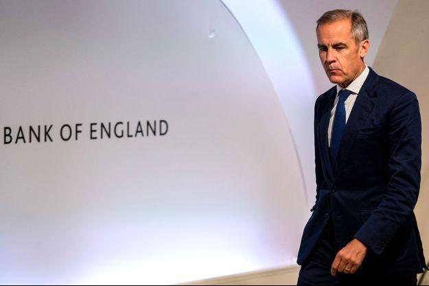 Le gouverneur de la Banque d'Angleterre, Mark Carney, jeudi à Londres.